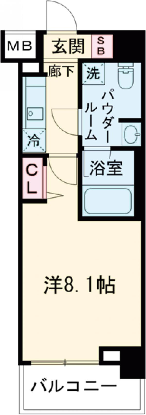 パティーナ東武練馬・302号室の間取り