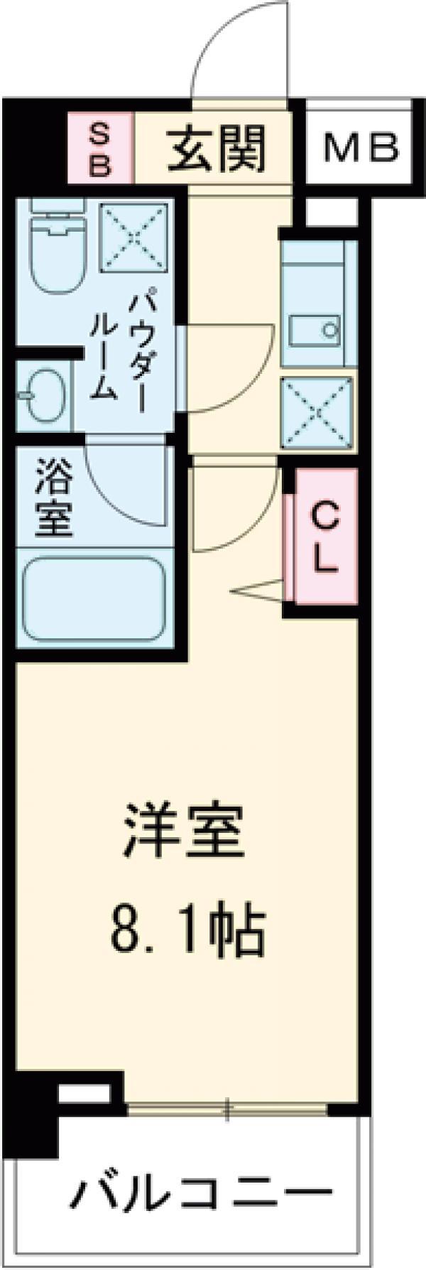 パティーナ東武練馬・203号室の間取り