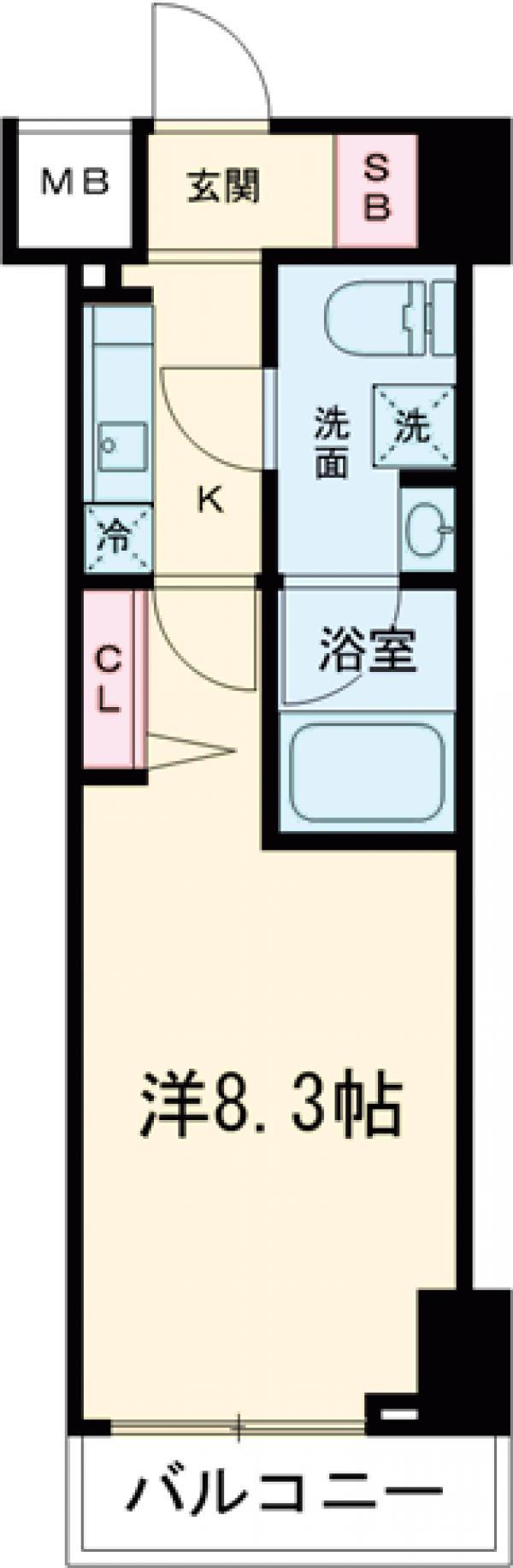 パティーナ東武練馬・506号室の間取り