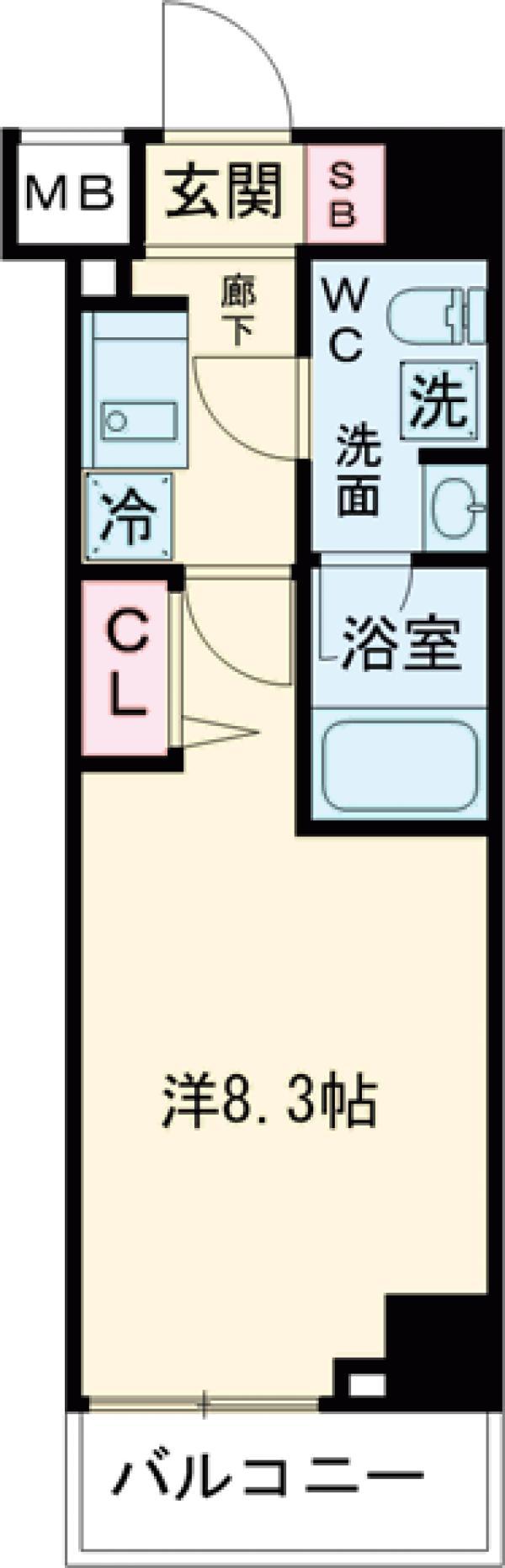 パティーナ東武練馬・314号室の間取り