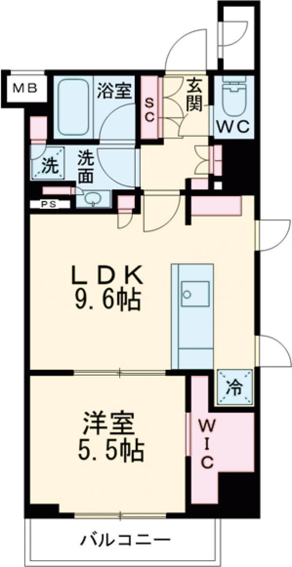 ザ・パークハビオ早稲田・213号室の間取り