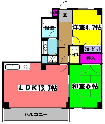LANAI COURT 25・207号室の間取り