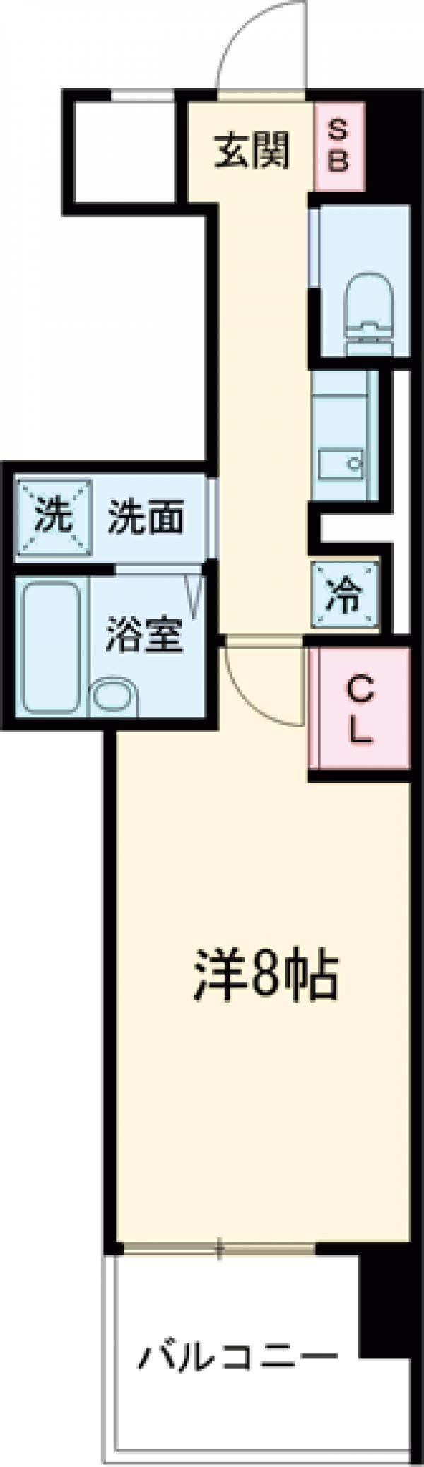 イーストガーデンリバーサイド町田・703号室の間取り