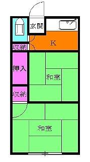小川アパート 202号室の間取り