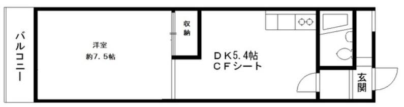 高田馬場リハイム・311号室の間取り