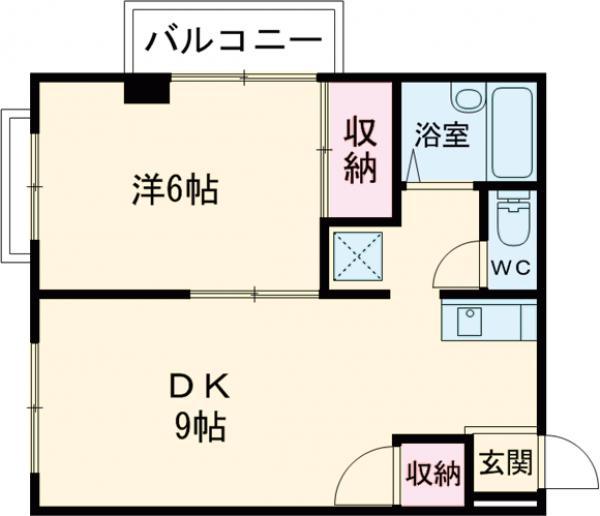 鹿鳴館Ⅱ・303号室の間取り