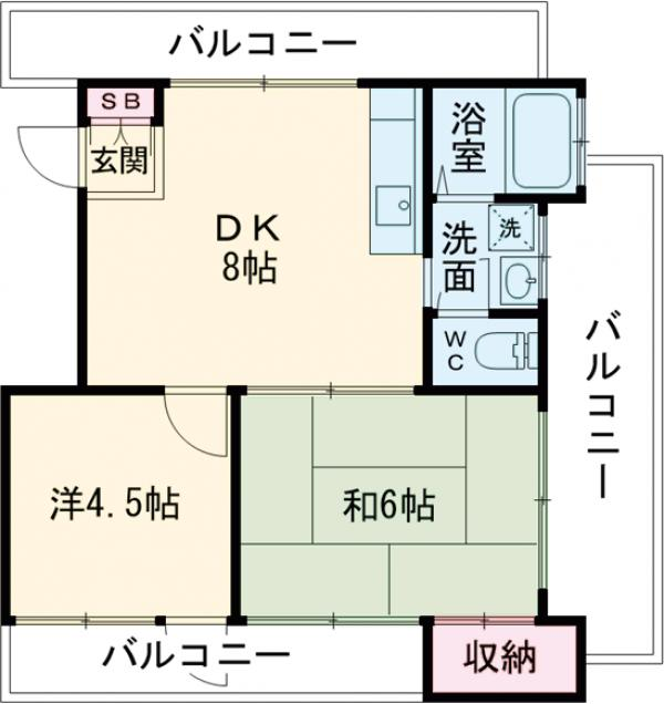 フラッツ東長崎・301号室の間取り