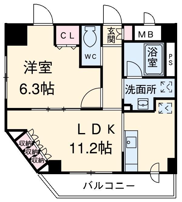 クエル田端・702号室の間取り