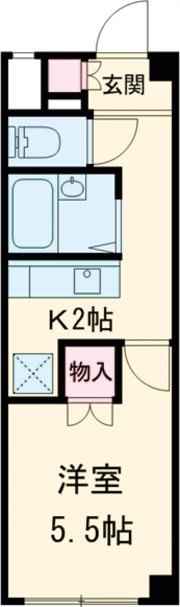 SKK-Ⅷ・302号室の間取り