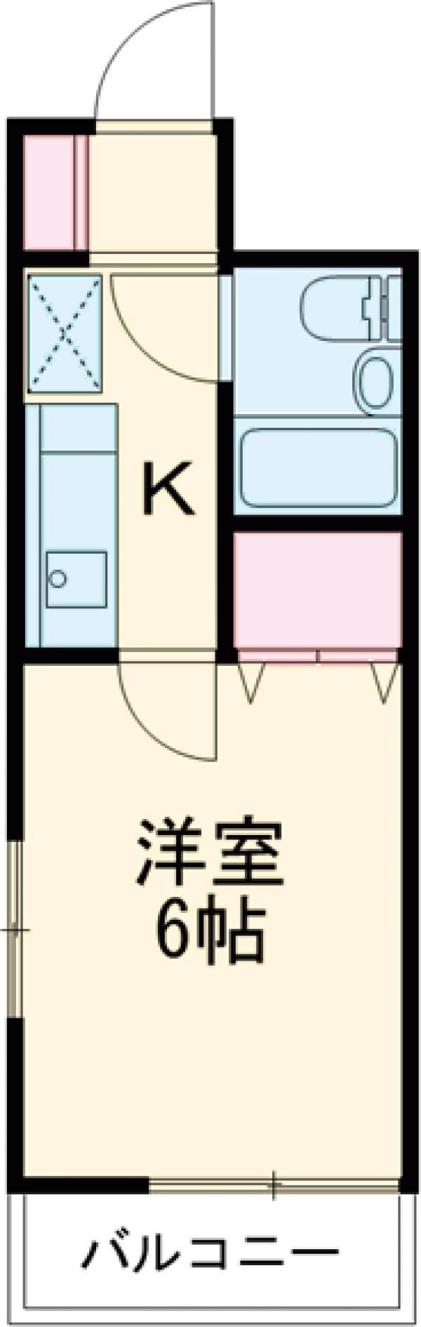 上板橋ダイカンプラザシティⅡ 209号室の間取り