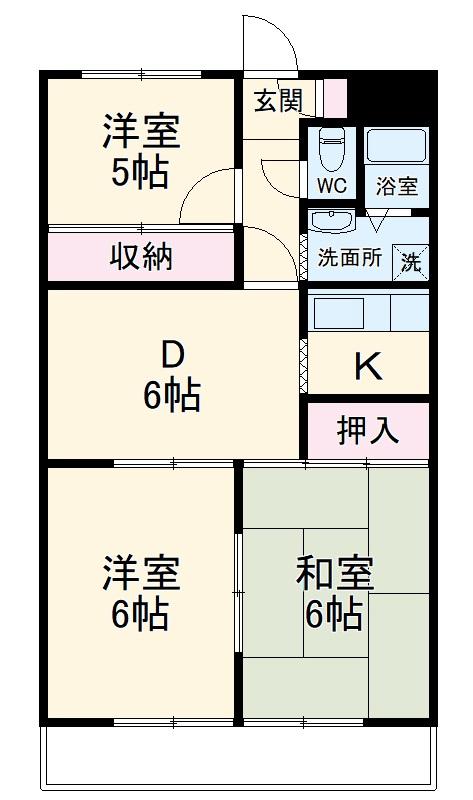 メゾン須賀・502号室の間取り