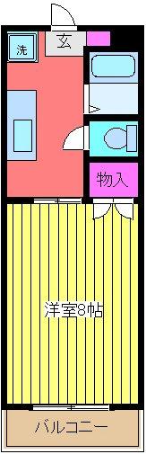 ニューライフ越塚・201号室の間取り