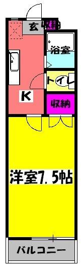 ニューライフ越塚・203号室の間取り