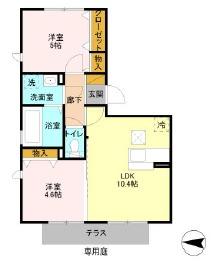 第五スカイマンション・106号室の間取り