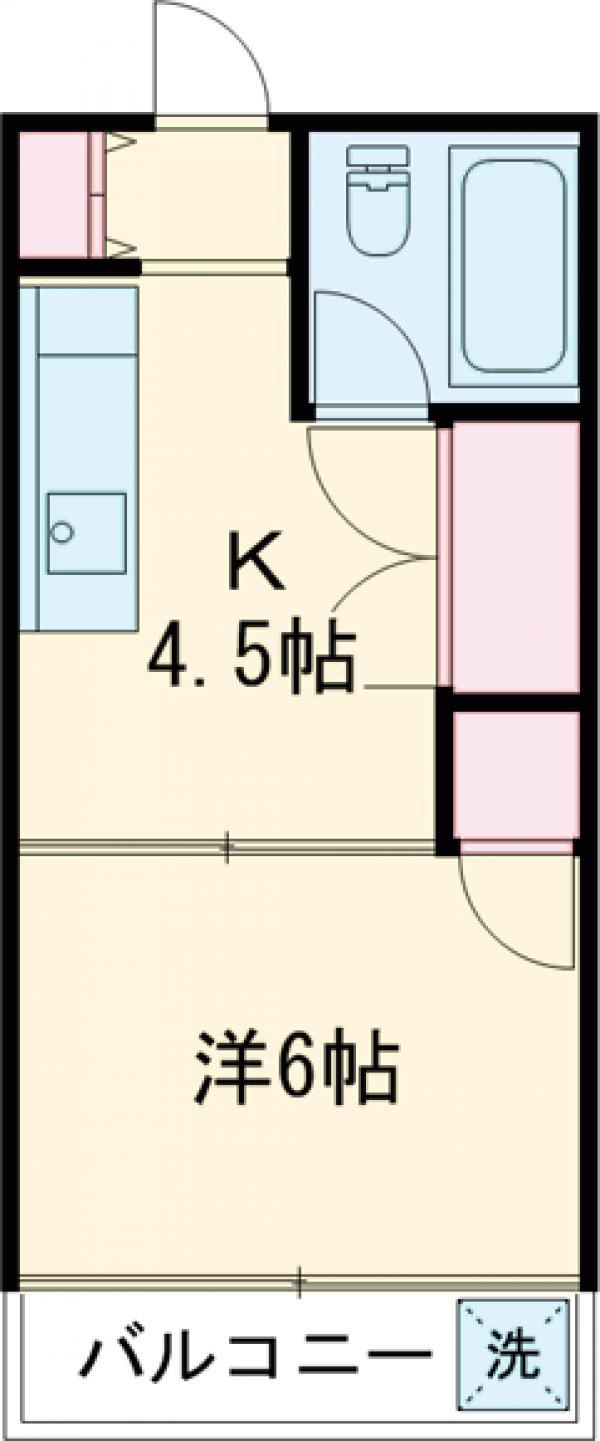 アメニティ千川・403号室の間取り