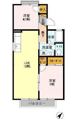 ファーストヴューラ 六番館 205号室の間取り