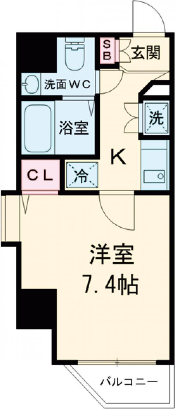HF錦糸町レジデンス・806号室の間取り