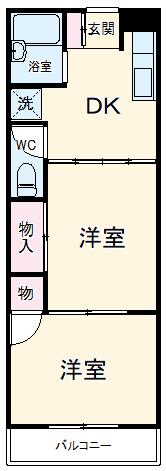 エムハイツ桜木 101号室の間取り