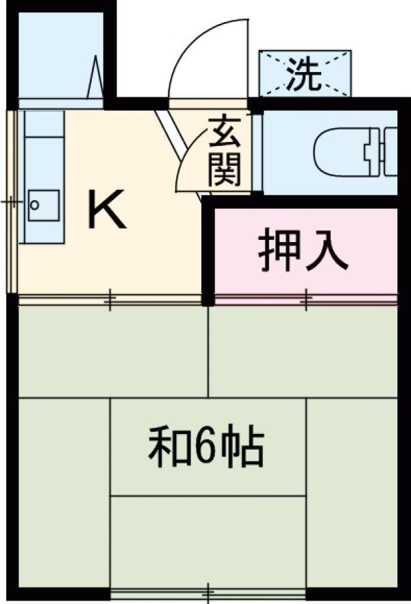 田村荘 201号室の間取り