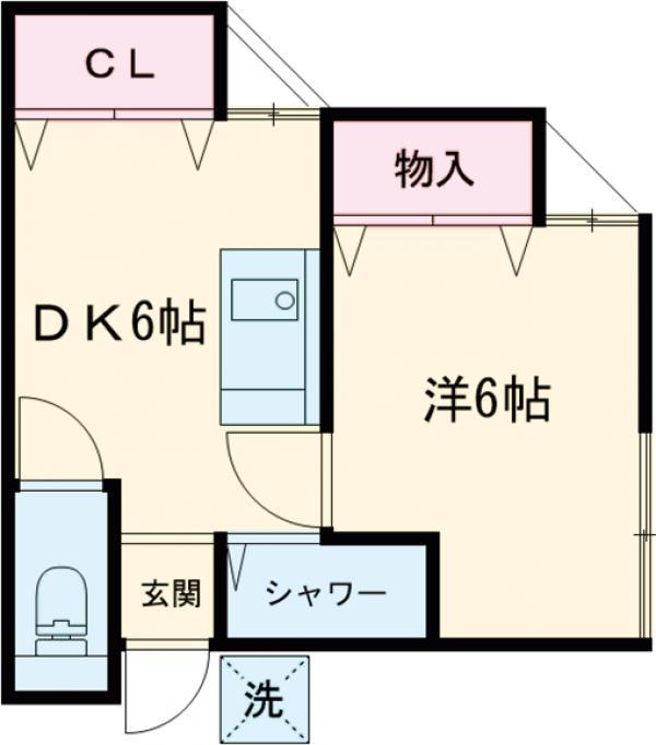 田村荘 206号室の間取り