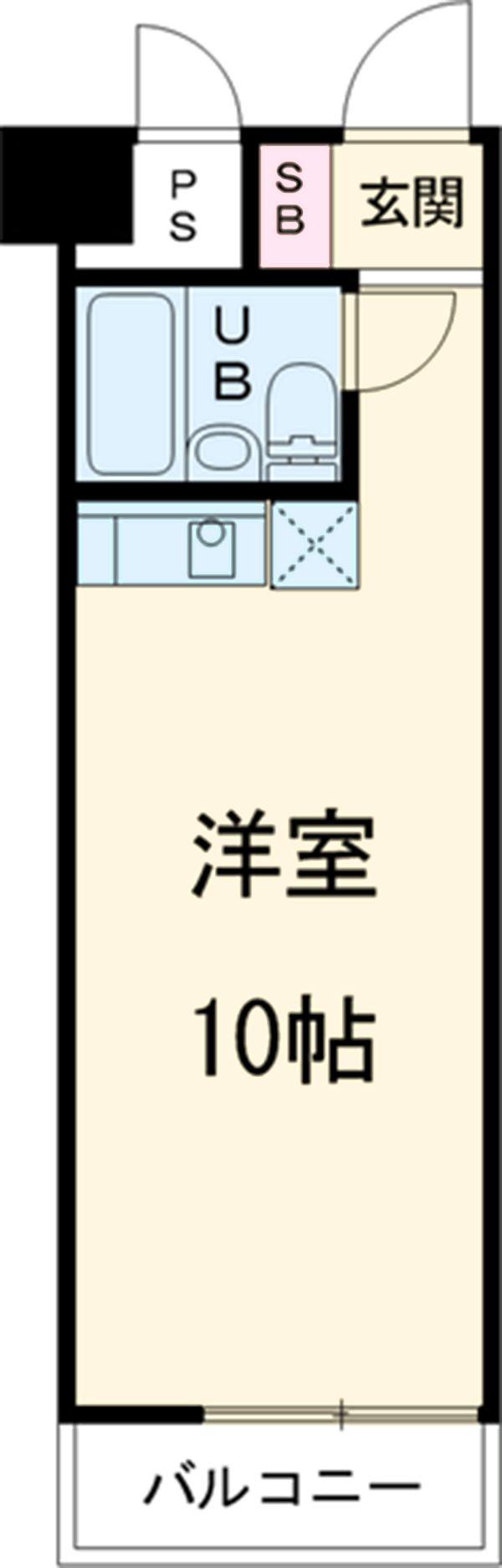 T's garden永山 416号室の間取り