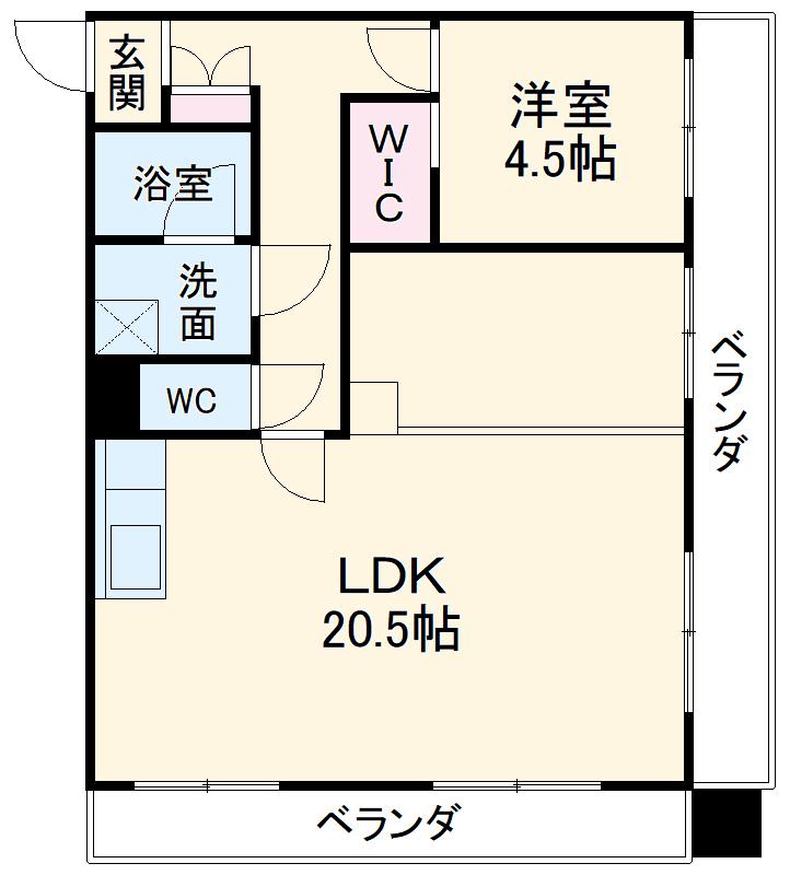 セキスイハイム徳川レジデンス 1206号室の間取り