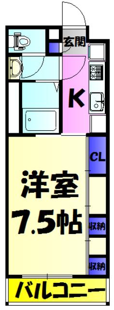 リブリ・MIMU Ⅱ・103号室の間取り