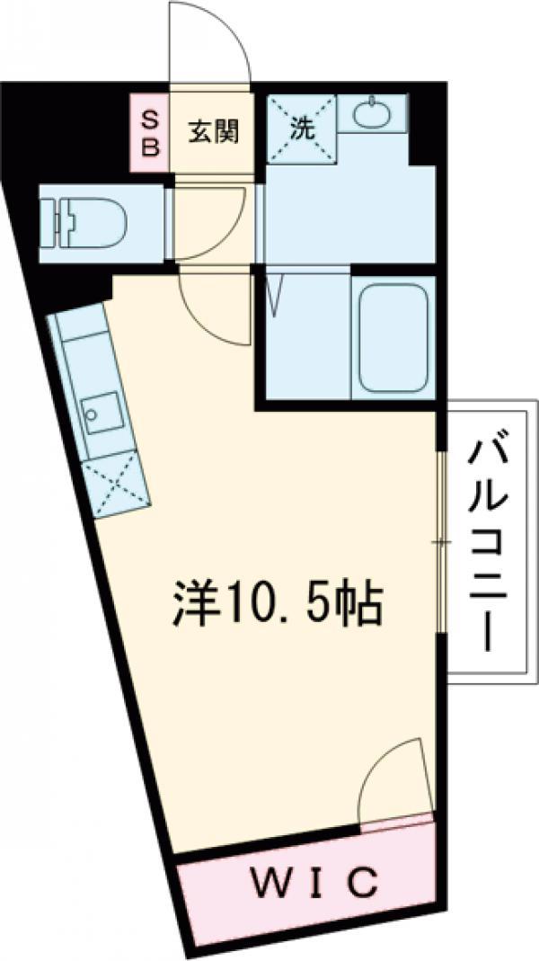 ameijia玉川学園・201号室の間取り