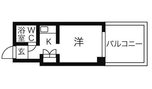 ユース白壁・105号室の間取り