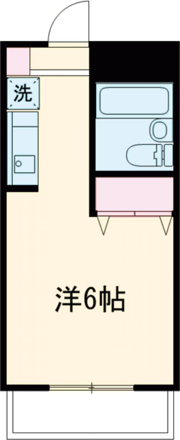 クレスト多摩川・303号室の間取り