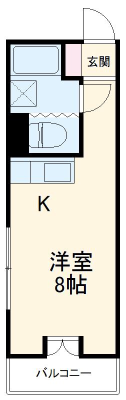 GSプラザ鶴見駅前 601号室の間取り