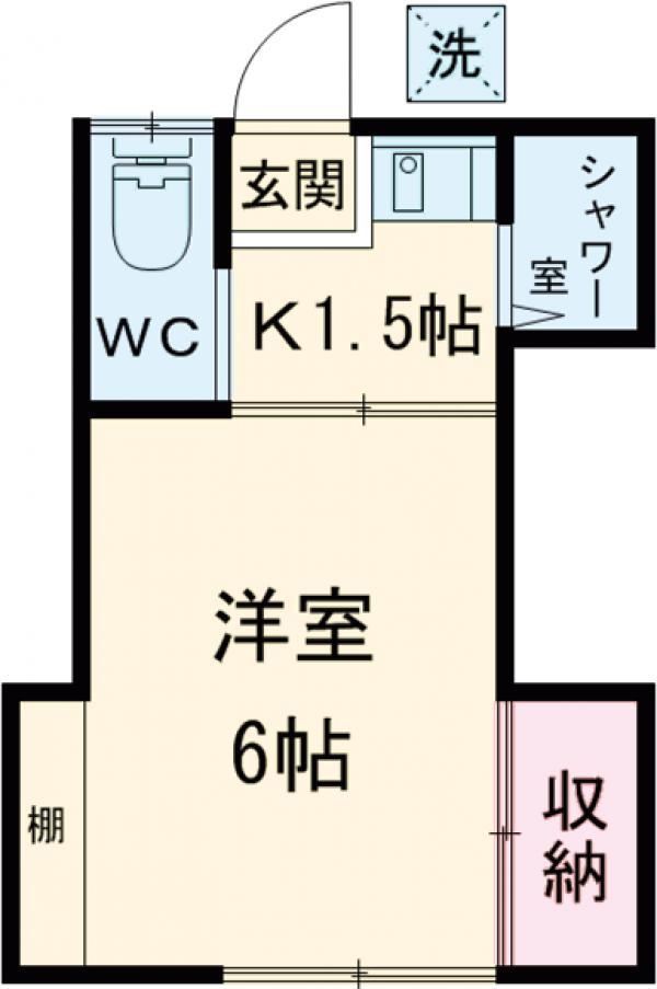 田中荘A棟 202号室の間取り