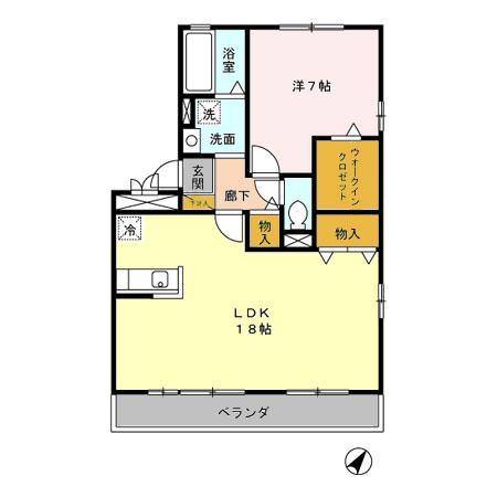 フレンドハウス23 B301号室の間取り