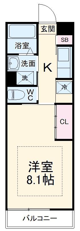 リブリ・ADハウス・303号室の間取り