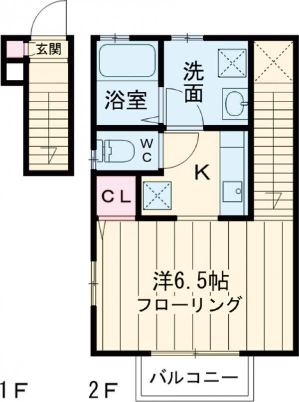 パーム阿佐ヶ谷・201号室の間取り