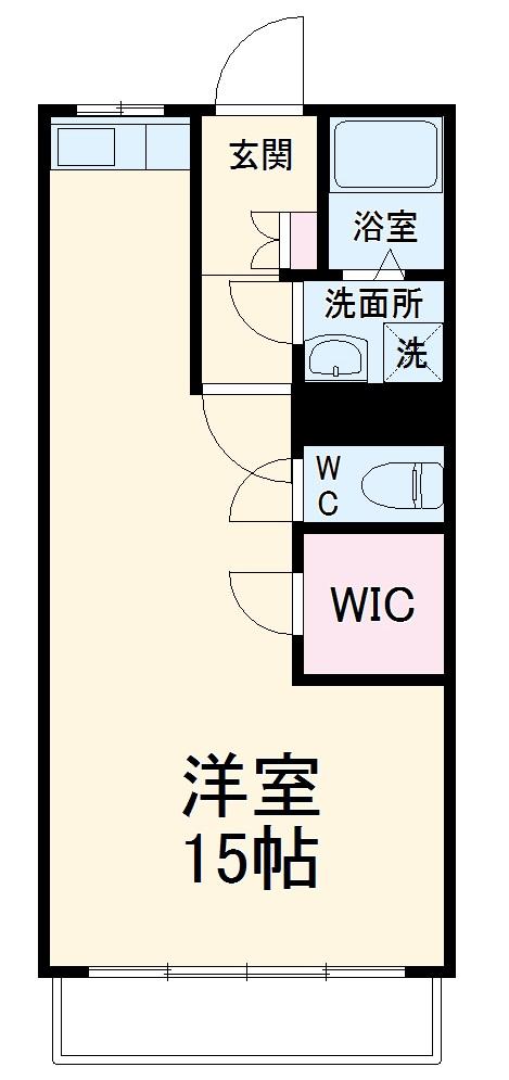 坪井マンション・201号室の間取り