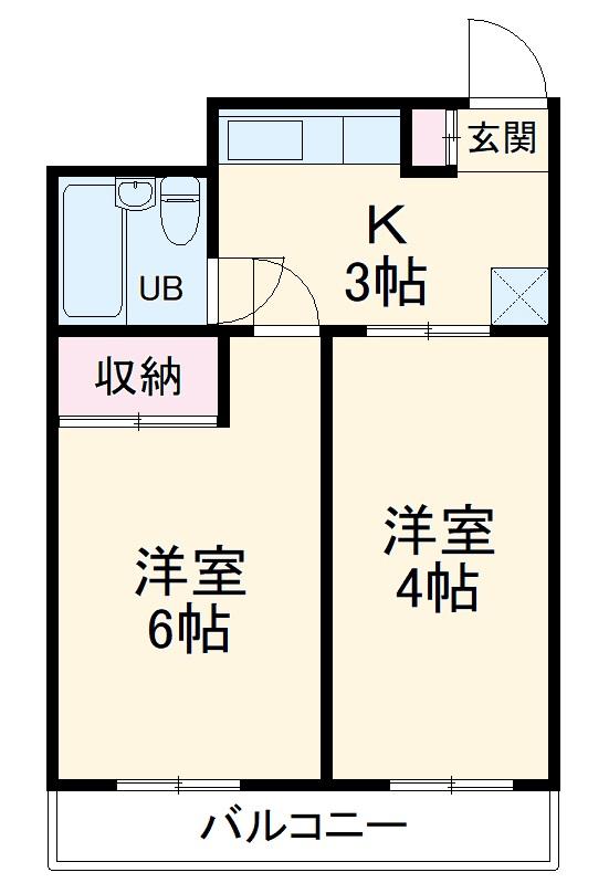 東川口宝レジデンス・406号室の間取り