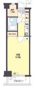 まちのもり本町田・1303号室の間取り