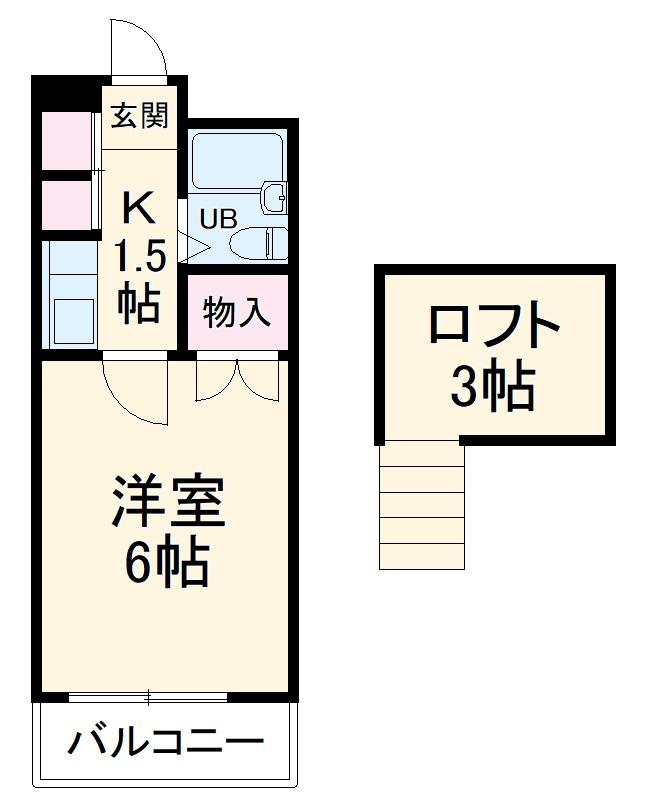 ホワイトリリー武蔵浦和・203号室の間取り