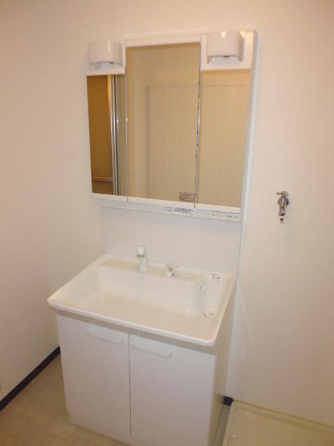 レ・ションド清涼 203号室の洗面所