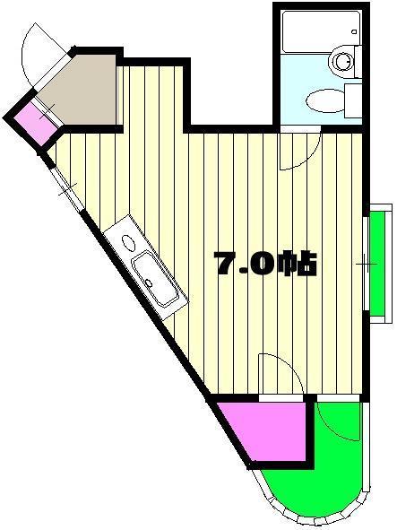 昭和ビル 00201号室の間取り
