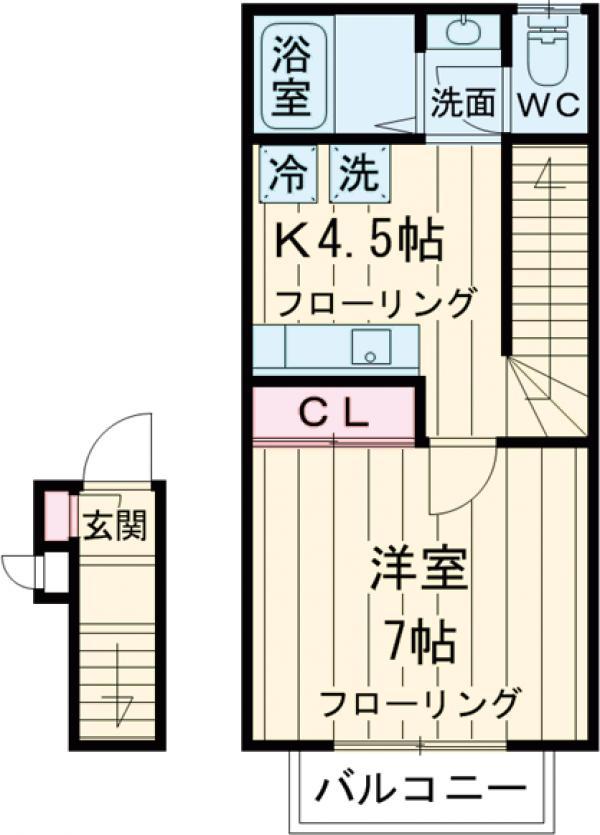 サンコート高円寺南・B-202号室の間取り
