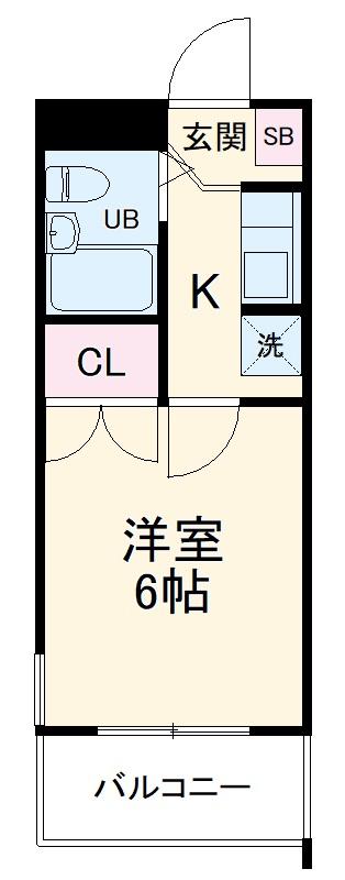 エクセレント稲田堤・105号室の間取り