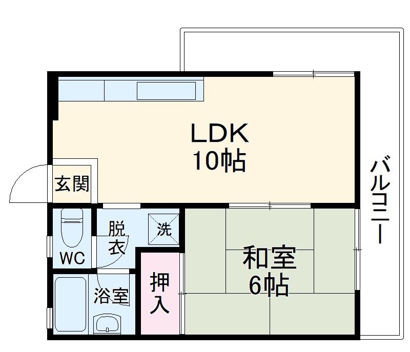 南桂雲荘 33号室の間取り
