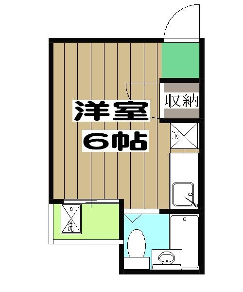 菊地第3マンション・102号室の間取り