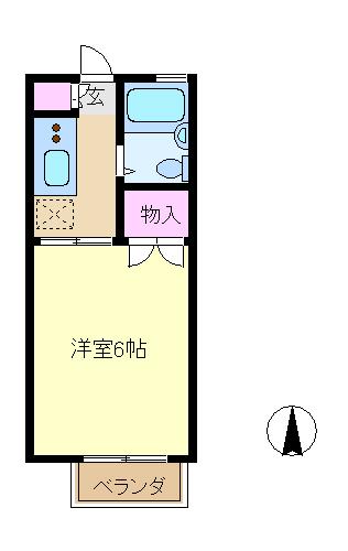 メゾン・コスモ・102号室の間取り