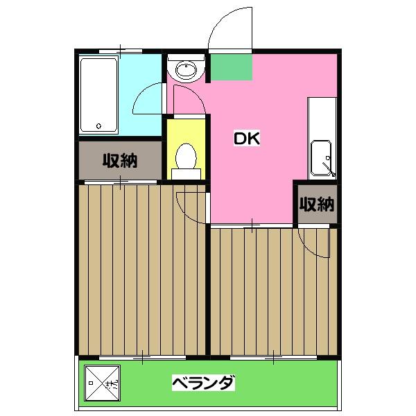 橋本ビル・502号室の間取り