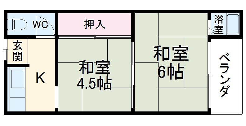 柳本荘・9号室の間取り