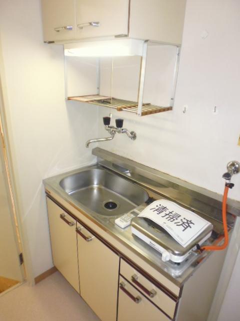 グリーンヒル山田 205号室のキッチン