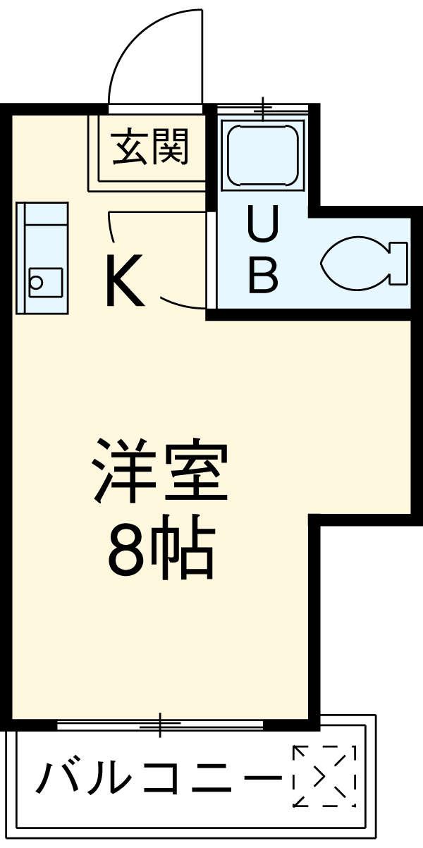 西府マンション・102号室の間取り